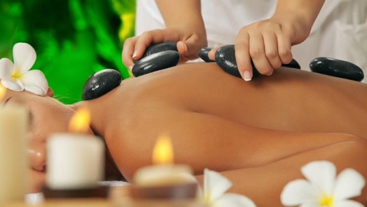 Terapias García y Lledó, masaje con piedras calientes, piedras de basalto. SPA,