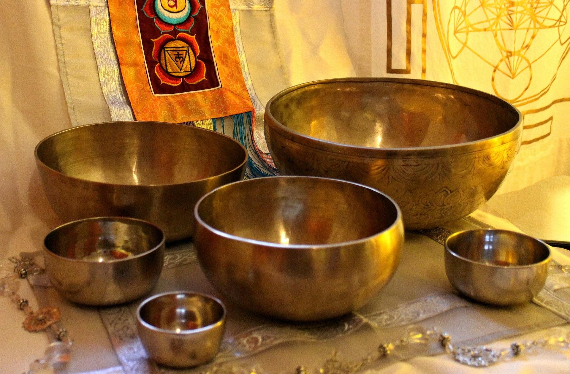 Conjunto de Cuencos Tibetanos antiguos.